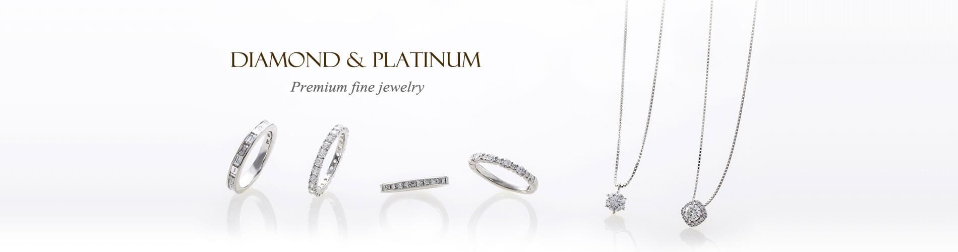 ハイグレードダイヤモンドからカジュアルアイテム、誕生石まで数多くのジュエリー揃います